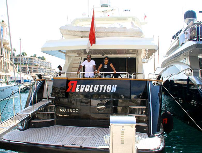 luxury yacht in monaco
